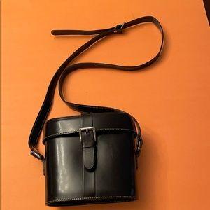 Vintage Browns leather camera handbag
